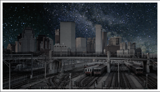 1.Boston night sky