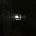 long dark tunnel.close-up